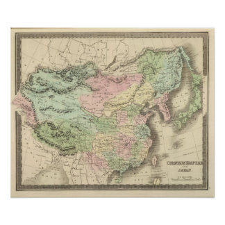 Chinese Empire and Japan Poster