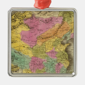 Chinese Empire And Japan Silver-Colored Square Decoration