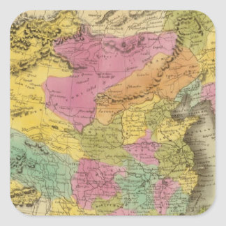 Chinese Empire And Japan Square Sticker