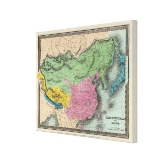 Chinese Empire And Japan Stretched Canvas Print