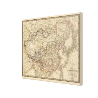 Chinese Empire Japan Stretched Canvas Print