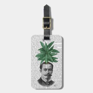 Chinese Evergreen Head Plant Head Bag Tag