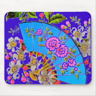 Chinese Fan Blue Template Products Mouse Mat