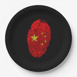 Chinese fingerprint 9 inch paper plate