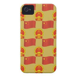 Chinese Flag and National Emblem iPhone 4 Case