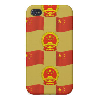 Chinese Flag and National Emblem iPhone 4 Cases