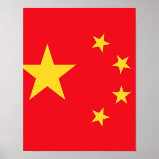 Chinese Flag Print
