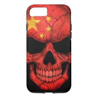 Chinese Flag Skull on Black iPhone 7 Case