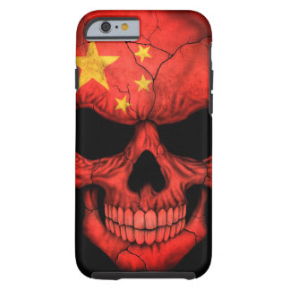 Chinese Flag Skull on Black Tough iPhone 6 Case
