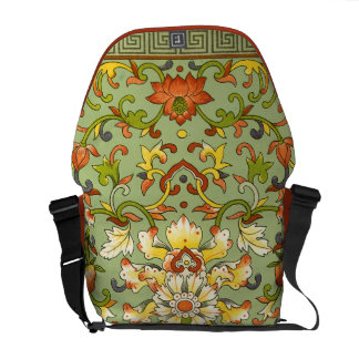 Chinese Floral Jade Asian Flair Messenger Bags