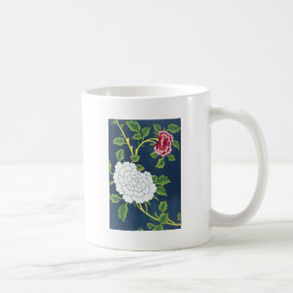 Chinese Flower Design Basic White Mug