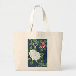 Chinese Flower Design Jumbo Tote Bag