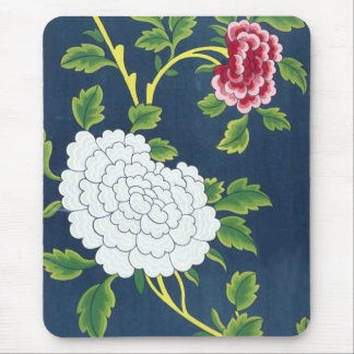 Chinese Flower Design Mouse Pad