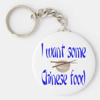 chinese food basic round button key ring