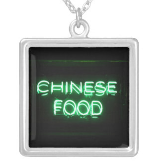 CHINESE FOOD - Green Neon Sign Necklaces