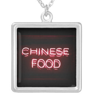 CHINESE FOOD - Red Neon Sign Necklaces