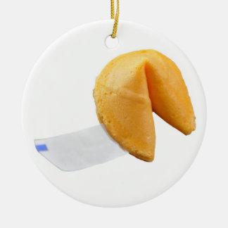 Chinese Fortune Cookie - SRF Round Ceramic Decoration