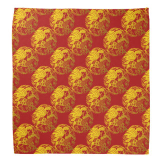 Chinese G Papercut Rooster Year 2017 Red bandana