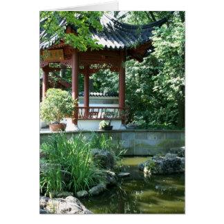 Chinese Garden Card
