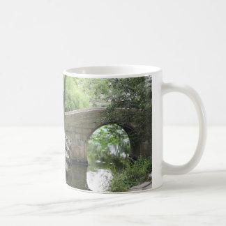Chinese Garden Foot Bridge Over Stream Basic White Mug