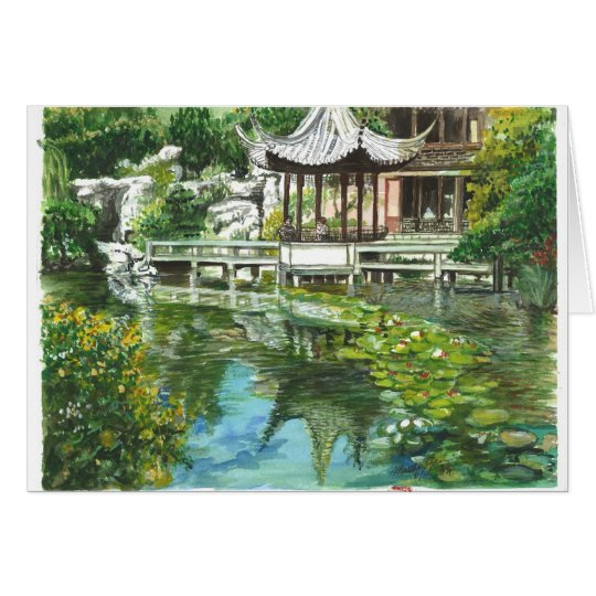 Chinese Garden in Portland Card