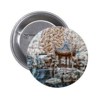 Chinese Garden Infrared Pinback Button