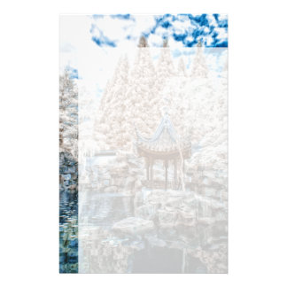 Chinese Garden Infrared Customised Stationery