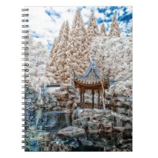 Chinese Garden Infrared Notebooks