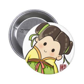 chinese girl pinback button