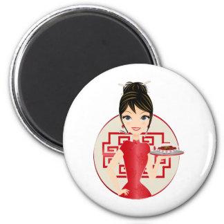 Chinese girl refrigerator magnet