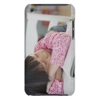 Chinese girl napping on textbooks iPod touch cover