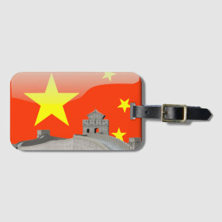 Chinese glossy flag luggage tag