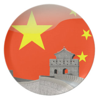 Chinese glossy flag plate