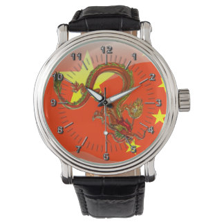 Chinese glossy flag wristwatches