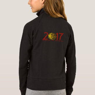 Chinese Gold Papercut Rooster Year 2017 Jacket