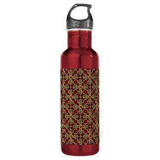 Chinese golden lattice pattern 710 ml water bottle