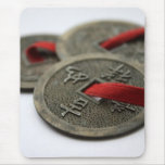 Chinese Good Luck Coins Mouse Pad