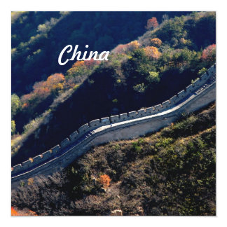 Chinese Great Wall 13 Cm X 13 Cm Square Invitation Card