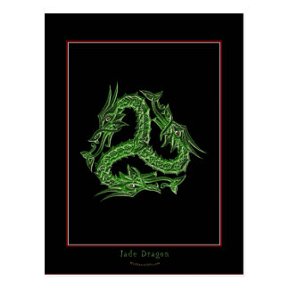 CHINESE GREEN DRAGON Design Post Card