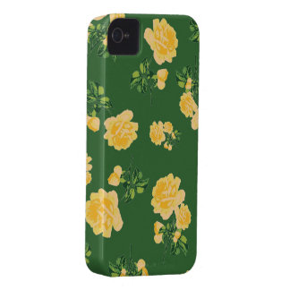 Chinese green yellow roses iphone 4 case