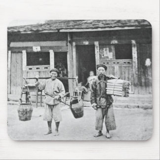 Chinese Hawkers, c.1870 (b/w photo) Mouse Mat