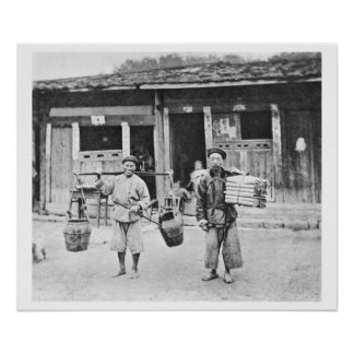 Chinese Hawkers, c.1870 (b/w photo) Poster