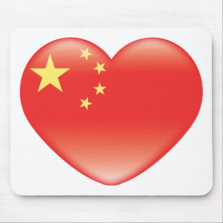 Chinese_heart_flag Mouse Pad