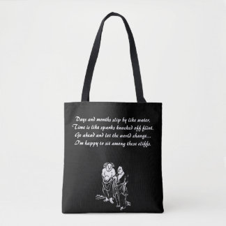 Chinese Hermit Poet Quotation Tote Bag
