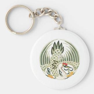 Chinese Heron Folklore Bird Art Key Chains