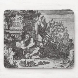 Chinese Holy Men, illustration from a description Mouse Pad