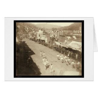 Chinese Hub-and-Hub Race Deadwood SD 1888 Greeting Card
