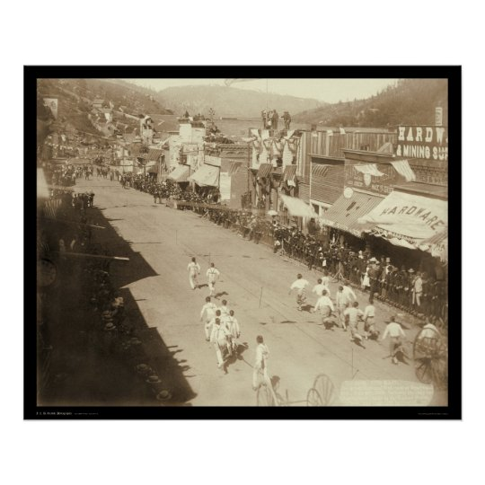 Chinese Hub-and-Hub Race Deadwood SD 1888 Poster