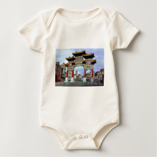 Chinese Imperial Arch, Liverpool UK Baby Bodysuit