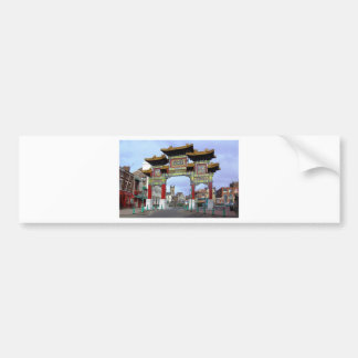 Chinese Imperial Arch, Liverpool UK Bumper Sticker